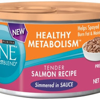 Purina ONE Healthy Metabolism Salmon Canned Cat Food 24/3 oz