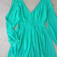 By the Bay Romper in Green [6729] - $35.70 : Vintage Inspired Clothing & Affordable Dresses, deloom | Modern. Vintage. Crafted.