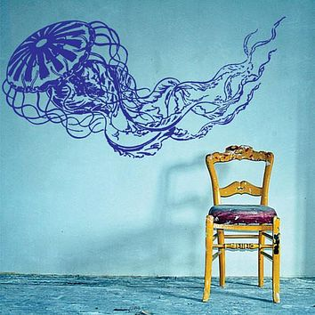 Jellyfish Design Animal Decal Sticker Wall Vinyl Decor Art