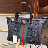 Gucci fashion embossed large capacity single shoulder bag