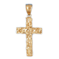 14K GOLD RELIGIOUS CHARM - CROSS #7992