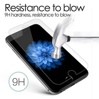 HOT 9H Premium Tempered Glass for iPhone 4 4s se 5s 5c 6 6s 7 8 X plus 2.5D Arc Edge Screen Protector Case Cover Protective Film