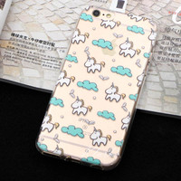 Cell Phone Cases sfor Iphone 6 plus new arrival cute Unicorn Case Cover for apple iphone6 6s soft silicone coque fundas freeshipping=CA025