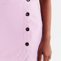 UO Shelly Twill Button-Down Mini Skirt   Urban Outfitters