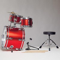 The Land of Nod: Kids' Musical Instrument Toys: Kids Real Red Drum Set in New Toys and Gifts
