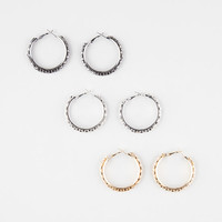 Full Tilt Mesh Hoop Earrings Metal One Size For Women 27538919101