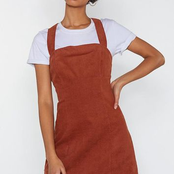Play Date Corduroy Pinafore Dress