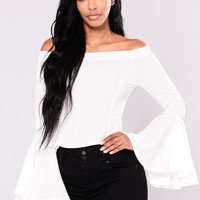 Find A Way Bell Sleeve Top - Ivory