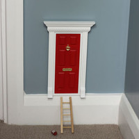 Cherry Red Town House Magical Fairy Door