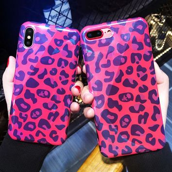 Fashion Blu-Ray Sexy Laser Leopard Print Phone Case