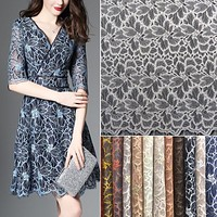 new arrives high-grade women dress lace fabrics gauze eyelash lace fabric net mesh African Tulle lace fabric for party dress