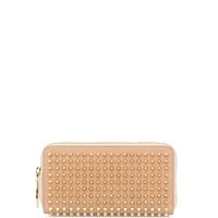Panettone Spike Stud Continental Wallet, Nude/Gold - Christian Louboutin