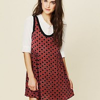 Free People Mollys Dot Swing Dress