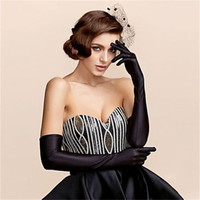 Sexy Fashion Lady Soft Stretchy Long Sleeve Finger Gloves Burlesque Party Opera Gloves color randomly
