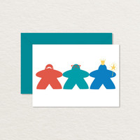 Meeples Off the Clock Printable 4 Bar Note Card / Board Game Card / Nerdy Card