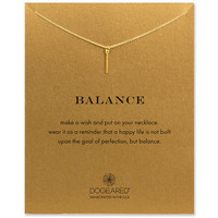 balance vertical bar necklace, gold dipped