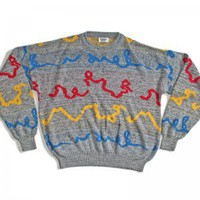 Squiggle Vintage 80s/90s Ugly Zack Morris Sweater Men's Size Medium (M)