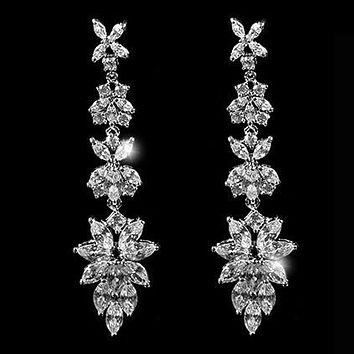 Liann Marquise Cluster Chandelier Earrings | 65mm