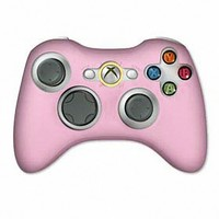 PINK Silicone Case Skin Protector Cover for Xbox 360 Game Controller (Many Colors Available)