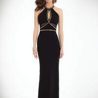 Jersey Illusion Halter Dress with Key Hole Front from Camille La Vie and Group USA