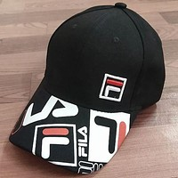 FILA new tide brand summer sun visor fashion casual simple cap F0650-1 Black
