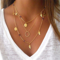 ≫∙∙Boho Summer Gold Layer Necklace Trendy Jewelry  ∙∙≪