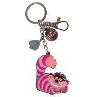 Alice in Wonderland Cheshire Cat Dangle Pewter Key Chain - Monogram - Alice in Wonderland - Key Chains at Entertainment Earth