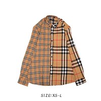 2019 burberry jacket cotton luxury lapel T-shirt autumn and winter long sleeved shirt fashion casual long sleeved T shirt4ecf#