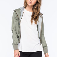 FULL TILT Twill Womens Bomber Jacket | Jackets