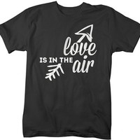 Shirts By Sarah Men's Valentine's T-Shirt Love In The Air Arrow Shirts