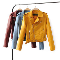 Hipster Faux Pu Leather Jacket, Classic Look, All Sizes & Colors