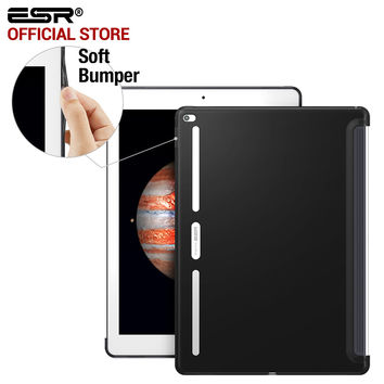 ESR Soft TPU Corner Bumper Protection Charcoal Gray Back Shell Case for iPad Pro 12.9 inches