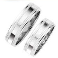 his and hers platinum ring WEDDING BAND SET men's rings