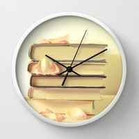 She Wrote Stories and Kept Them Quietly in Her Heart Wall Clock by Olivia Joy StClaire