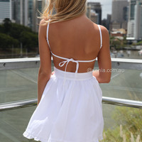 PRE ORDER - LADY LUCK DRESS (Expected Delivey 30th May, 2014) , DRESSES, TOPS, BOTTOMS, JACKETS & JUMPERS, ACCESSORIES, 50% OFF SALE, PRE ORDER, NEW ARRIVALS, PLAYSUIT, COLOUR, GIFT VOUCHER,,White,CUT OUT,BACKLESS,SLEEVELESS,MINI Australia, Queensland, Bri