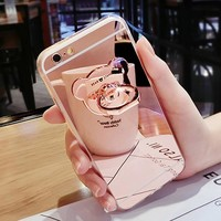 Luxury Ring Case Cover iPhone 7 Plus 6 6S Plus For iPhone 5 5S SE 4 4s Case Cover
