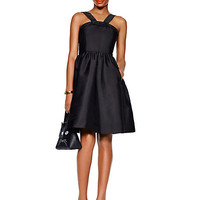 Kate Spade Pave Trim Fit And Flare Dress Black