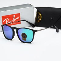 Ray-ban hot seller of stylish square-framed glass sunglasses for cars men's and women's casual sunglasses