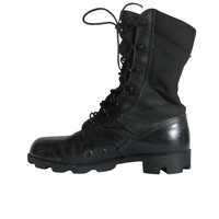 Women Combat Boot Military Boot Black Combat Boot Women Boot 8 90s Grunge Boot Black Lace Up Boot 90s Goth Boot Army Boot 90s Black Boot