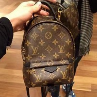 Louis Vuitton LV Trending Woman Men Leather Travel Bookbag Shoulder Bag Backpack