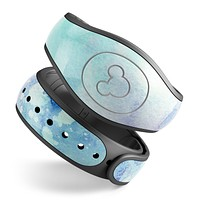 Mint Absorbed Watercolor Texture - Decal Skin Wrap Kit for the Disney Magic Band