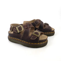 Doc Martens Shoes Sandals 1990  Brown Leather  UK size 5 Women's US size 7