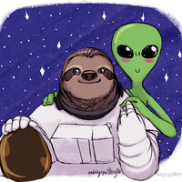 Slothy Space Sticker