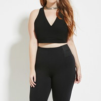 Plus Size Halter Crop Top