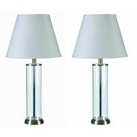 Clear Glass Fillable Table Lamp (Set of 2) | Overstock.com Shopping - The Best Deals on Lamp Sets