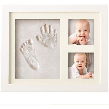 Bubzi Co Baby Handprint and Footprint Kit for Baby Girl Gifts & Baby Boy Gifts, Unique Baby Shower Gifts, Personalized Baby Gifts for Baby Registry, Keepsake Box for Room Wall Nursery Decor