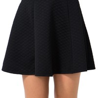 As If Quilted Skater Skirt