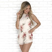 Floral Afternoon Sheer Romper