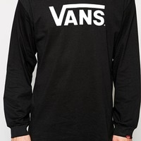 Vans Classic Logo Long Sleeve T-Shirt