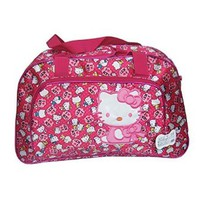 Light Weight Hello Kitty Pattern Duffle Bag, Large Compacity for Weekender, Can Use As a Fashion Diaper Bag (Hotpink)